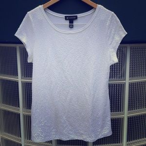 White Sequined Tee